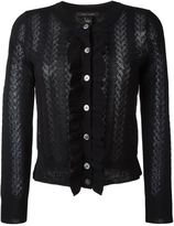 Marc Jacobs ruffled placket cardigan