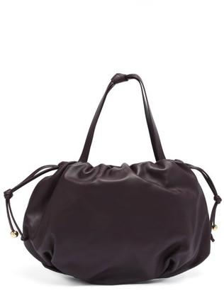 Bottega Veneta The Bulb Medium Drawstring Leather Shoulder Bag - Dark Burgundy