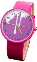 FeiFan Girls/Boys Candy Milk Wrist Watch Fashion PU Leather Round Analog Quartz Watches