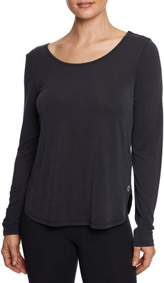 Betsey Johnson Strappy Back Long-Sleeve Tee