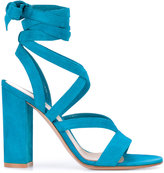 Gianvito Rossi Janis High sandals - women - Leather/Suede - 36.5