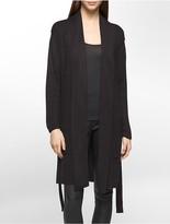 Calvin Klein Belted Sweater Jacket