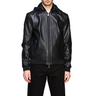 Armani Exchange Bomber In Synthetic Leather