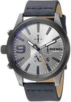 Diesel Men's 'Rasp Chrono 46' Quartz Stainless Steel and Leather Casual Watch