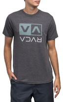 RVCA Men's Two Color Flipped Box T-Shirt