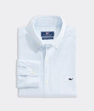 Vineyard Vines Classic Fit Pinpoint Oxford Stripe Tucker Shirt