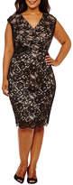 Melrose Sleeveless Sheath Dress-Plus