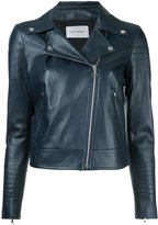 Yves Salomon classic biker jacket - women - Silk/Lamb Skin - 34