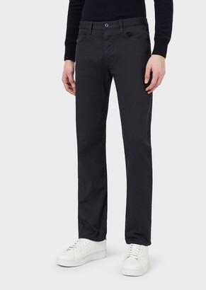 Emporio Armani Regular-Fit J21 Stretch Cotton Gabardine Jeans