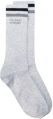 Brunello Cucinelli Striped Mid-Length Socks