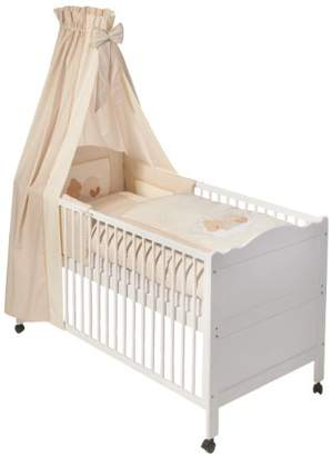 Easy Baby 400-83 Bed Set with Velcro Sleeping Bear Nature Design
