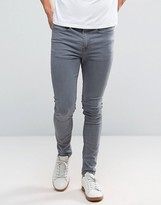 New Look Super Skinny Jeans In Grey Wash