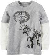 Carter's Toddler Boy Mock-Layer Dinosaur Tee