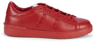 Valentino Studded Leather Sneakers