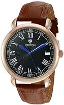 Croton Men's CN307532BRBK HERITAGE Analog Display Quartz Brown Watch