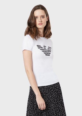 Emporio Armani Jersey T-Shirt With Eagle Print