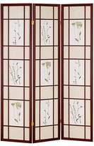 o.r.e International Three Panel Shoji Screen Cherry Finish