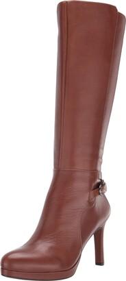 Naturalizer Womens TAI Cinnamon Leather Knee High Shaft Boots 8 W