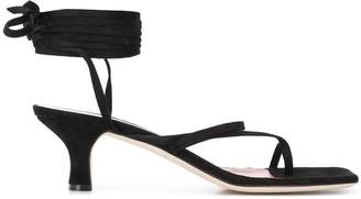 Paris Texas Suede Thong-Strap 45mm Sandals