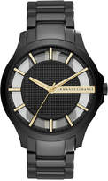 Armani Exchange A|X Men's Hampton Black-Tone Stainless Steel Bracelet Watch 46mm AX2192