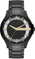 Armani Exchange Men's Hampton Black-Tone Stainless Steel Bracelet Watch 46mm AX2192