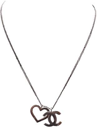 Chanel CC Grey Steel Necklaces