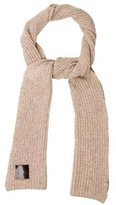 Tory Burch Wool Rib Knit Scarf