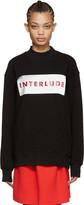 MSGM Black interlude Sweatshirt