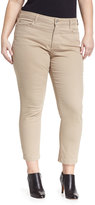 NYDJ Audrey Stretch-Denim Ankle Pants, Almond, Plus Size