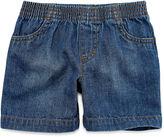 JCPenney Okie Dokie Pull-On Denim Shorts - Boys newborn-24m