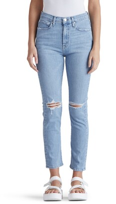 Edwin Elin High Waist Ripped Crop Slim Jeans
