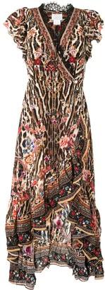 Camilla Ruffled Wrap Dress