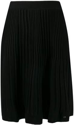 Calvin Klein pleated knit skirt
