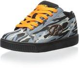 Heelys Boy's Straight Up Fashion Skate Sneakers Shoes (3 - Little Kid, Grey/Orange Camo)