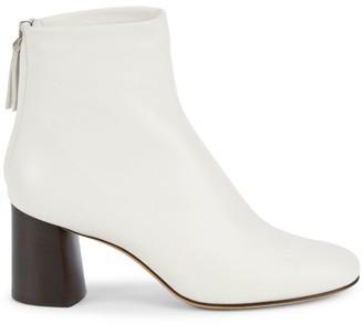 3.1 Phillip Lim Nadia Leather Block Heel Booties