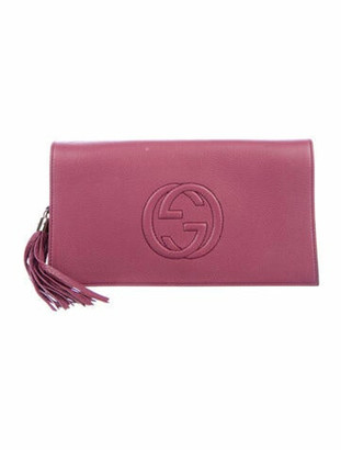Gucci Soho Disco Clutch Purple