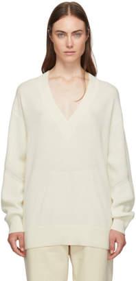 Rag & Bone Off-White Cashmere Logan V-Neck Sweater