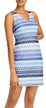 Aqua Striped Crochet Dress - 100% Exclusive