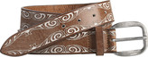 Johnston & Murphy Painted Swirl Belt