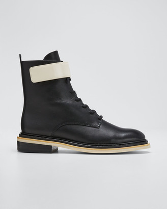 Mercedes Castillo Renah Two-Tone Leather Combat Boots