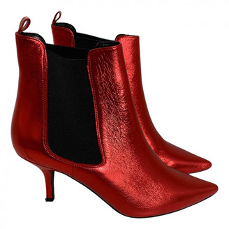Anine Bing Red Leather Boots