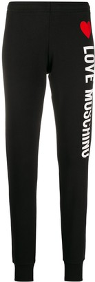 Love Moschino logo print track trousers