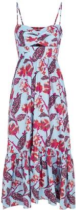 A.L.C. Emilia floral-print cotton-blend midi dress