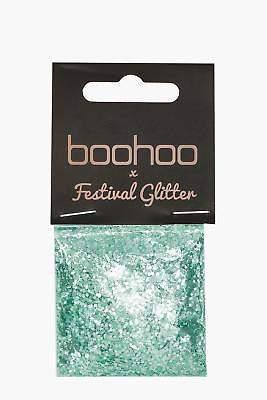 boohoo NEW Womens Festival Glitter Bag - Green in Green size One Size