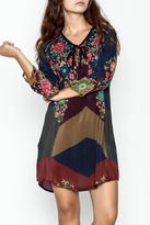 Johnny Was Tie Front Tunic Dress