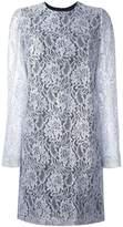 MSGM lace ruffle-back mini dress