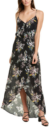 Karina Grimaldi Briana Silk-Blend Maxi Dress