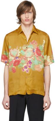 Dries Van Noten Yellow Floral Print Shirt