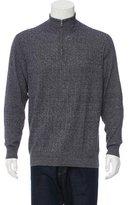 Loro Piana Baby Cashmere-Blend Half-Zip Sweater