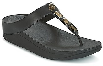 FitFlop ROKA TOE-THONG SANDALS women's Flip flops / Sandals (Shoes) in Black